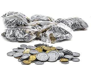ETA Hand2Mind Assorted Plastic Realistic Coins, Set of 500
