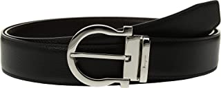 Salvatore Ferragamo Men's Adjustable & Reversible Belt - 679781 Black/Hickory 36