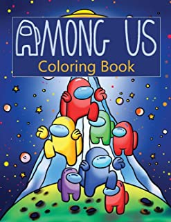 Among Us Coloring Book: Meaningful Gifts For Children During Winter Break Help Children Have a Wonderful Festive Season Wi...