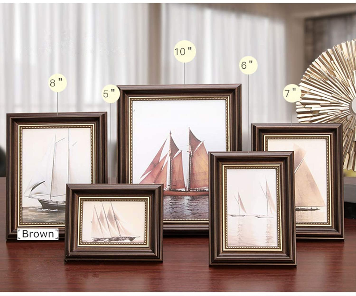 YKDDII Picture Frames golden Stroke Photo Frame For Home Decor 1 Pcs Quality Table&wall Picture Frames Art Frames Classic Fashion Multifunction Photo Frame