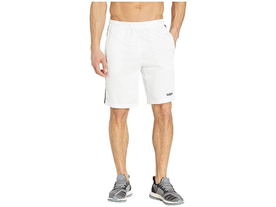 f5d3558ea adidas D2M 3-Stripe Shorts (White Black) Men s Shorts