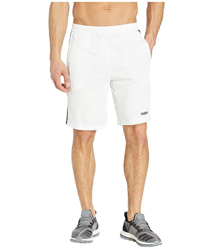 adidas D2M 3-Stripe Shorts (White/Black) Men