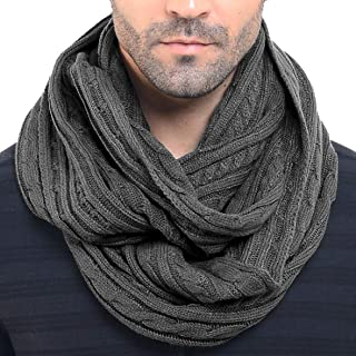 Men Knit Scarf Warm Winter Infinity Scarves E5031b