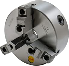 SHARS 6 Inch 3 Jaw Self Centering Scroll Lathe Chucks 2 Piece Jaws with 1-1/2-8 in Fully Machined Threaded Back Plate 202-5433-202-6109
