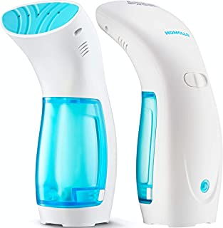 Travel Steamer for Clothes Handheld Garment Mini Steamer – Portable Steam Iron Fabric Wrinkles Remover – 25s Fast Heat-up – 120ml Water Tank – 950W – 360° Anti-Leak Ironing Pump System (White)