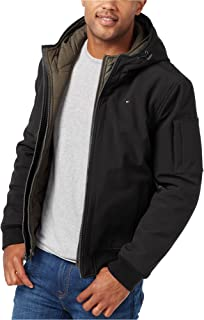 Men's Big Soft Shell Fashion Bomber with Contrast Bib and...