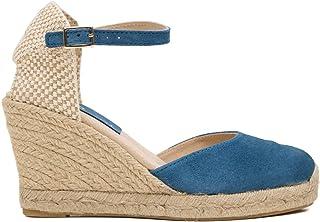 6fb9404c Zapatos miMaO. Zapatos Piel Mujer Hechos EN ESPAÑA. Cuñas Esparto Mujer.  Sandalias Plataforma
