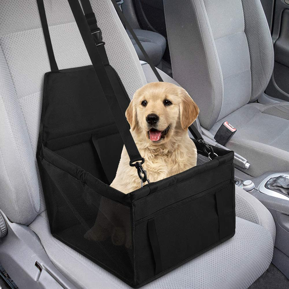 GeeRic Asiento de Coche para Mascotas de Seguridad Impermeable Transpirable extraíble para Proteger la Seguridad de Las Mascotas en los automóviles Pasar Unas Vacaciones seguras y sin Preocupaciones