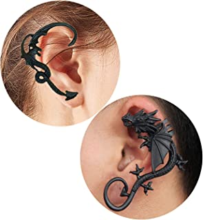 2Pcs Dragon Ear Cuff for Women Retro Twine Dragon Cuff Earrings Set