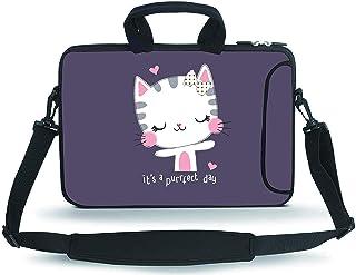 Baocool 14 15 15.4 15.6 inch Laptop Shoulder Bag Messenger Bag Case Notebook Handle Sleeve Neoprene Soft Carrying Tablet T...