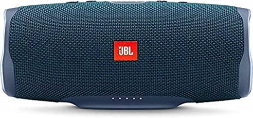 JBL Charge 4 by Harman Powerful Portable Bluetooth Speaker with Upto 20 Hours Playtime, Built-in 7500 mAh Powerbank & IPX7 Waterproof (Without Mic, Blue)