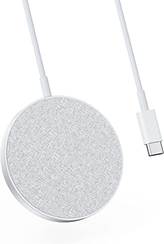 2021 Anker Magnetic Wireless Charging Pad with wholesale Sleek discount Design, PowerWave Select+ Magnetic Pad, 5 ft Built-in Charging Cable, 7.5W Only Compatible with iPhone 12 (No AC Adapter) sale