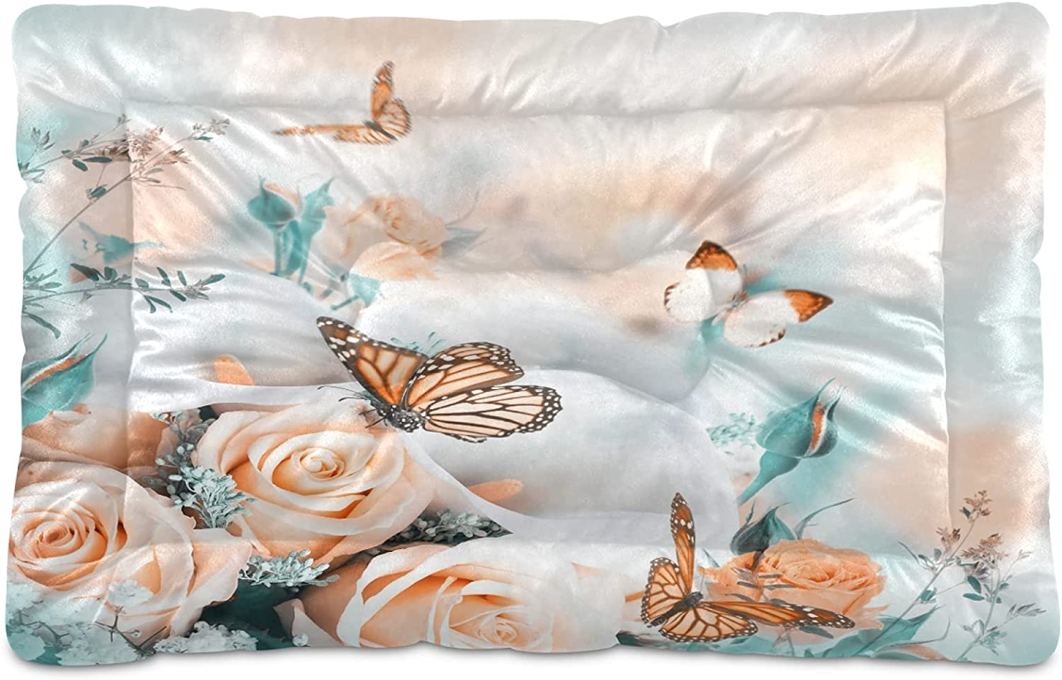 Yellow Butterfly Dog List price Bed Small Pet Pad Cat Animer and price revision Rose Beds Champagne N