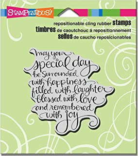 STAMPENDOUS Cling Stamp, Special Day