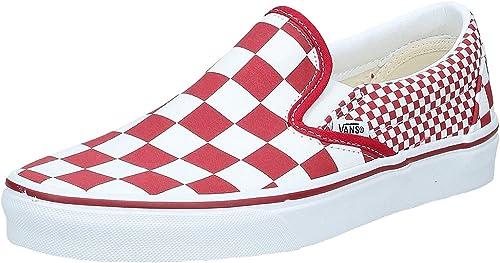 Vans Slip on Mix Checker Rouge Rouge : Amazon.fr: Chaussures et Sacs