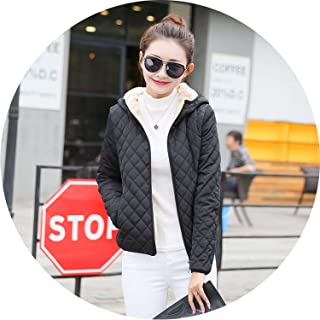2019 New Parkas Basic Jackets Female Women Winter Plus Velvet Lamb Hooded Coats Cotton Winter Jacket