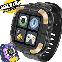 Game Smart Watch for Kids / Walkie Talkie Watches with Digital Camera Alarm Timer Stopwatch, Touchscreen Sports Kids Watch Music Pedometer, Wrist Watch Wearable Learning Toys Girls Boys Gifts, Black