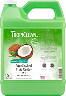TropiClean Oatmeal and Tea Tree Pet Shampoo 1 Gallon TRTTSH1G