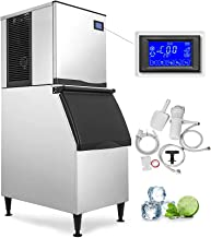 VEVOR 110V Commercial Ice Maker 400LBS/24H with 350LBS Bin, Full Clear Cube, LCD Panel,..
