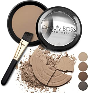 Eyebrow Powder Dark Blonde - Natural Fill-in Eyebrow Makeup – Brow Power Includes Small Brush