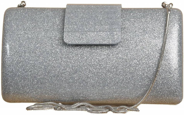 FRANDAMI Handtaschen Damen, Farbe Silber, Marke, Modell Handtaschen Damen 49566 Silber