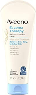 Aveeno Eczema Therapy Daily Moisturizing Cream for Sensitive Skin, Soothing Lotion with..