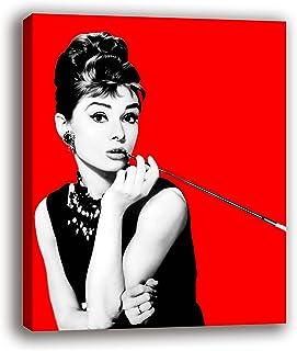 Oops Cuadro Lienzo Audrey Hepburn sobre Bastidor de Madera,