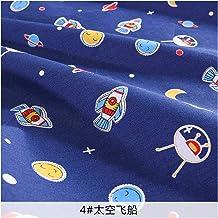 DIY Blauwe katoenen stof bedrukte ruimte beddengoed materiaal naaiende stof voor naaien, doe-het-zelf-ambacht, handwerk (C...