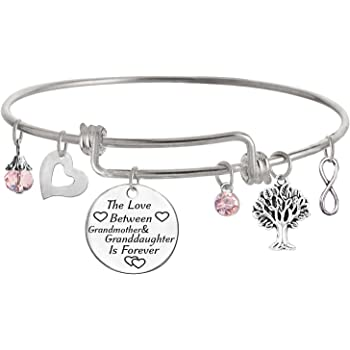 TISDA The Love between Grandmother and Granddaughter is Forever Bracelet