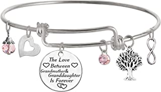 TISDA The Love Between Grandmother and Granddaughter is Forever Bracelet Family Jewelry