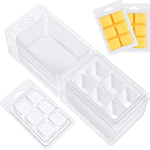 Clear Empty Plastic Heart Shape Clamshell Wax Melt Containers -25 Packs 6 Cavity Plastic Tray for Candle Making /& Soap Meetory Wax Melt Molds
