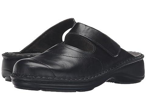 LeatherInk Black Naot Hibiscus Leather Madras AOAtp8