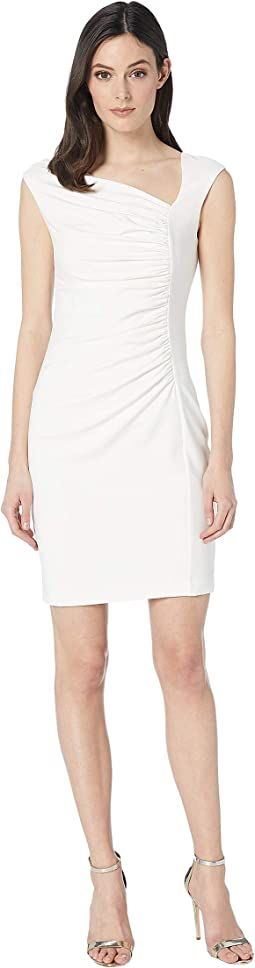 Drop Shoulder Ruched Sheath Dress
