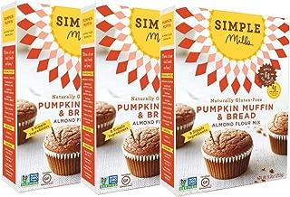 Simple Mills Almond Flour Mix, Pumpkin Muffin & Bread, 9 Ounce (Pack of 3)