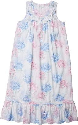 White Ground Blue/Pink Hydrangea Floral