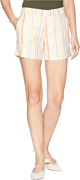 Kelsey Striped Shorts in Soft Stretch Linen in Sunset Stripe