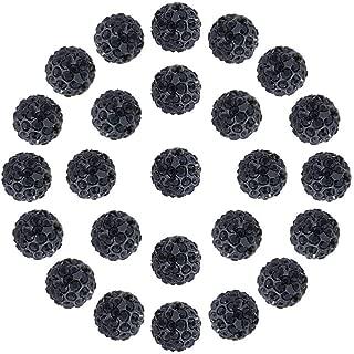 black rhinestone beads