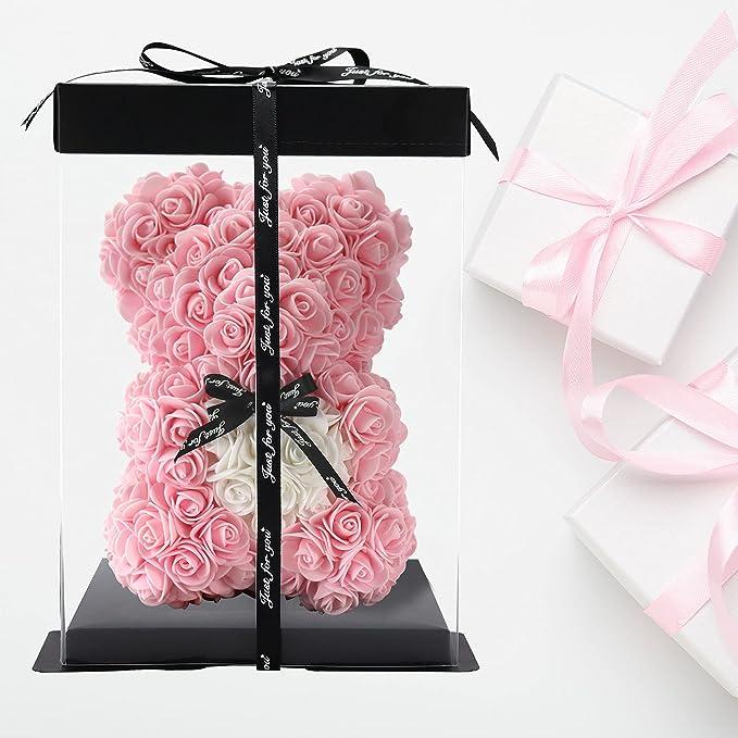 37 opinioni per orso rosa fatto a mano orsacchiotto fiore orso rosa orsacchiotto- regalo per la