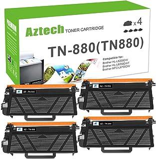 Aztech Compatible Toner Cartridge Replacement for Brother TN880 TN-880 HL-L6200DW HL-L6200DWT HL-L6250DW MFC-L6700DW MFC-L6800DW MFC-L6900DW (Black,4-Pack)