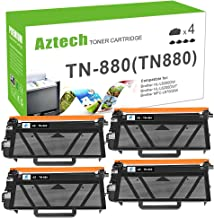 Aztech Compatible Toner Cartridge Replacement for Brother TN880 TN-880 (Black,4-Packs)