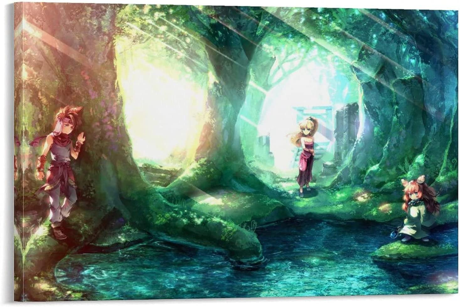 SHUAIGE Secret of Mana Anime Characters Canvas Poster Super special price Art Wa and Year-end gift