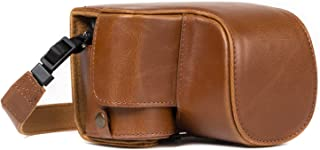 MegaGear Sony Alpha A6500 (16-50 mm) Ever Ready Leather Camera Case and Strap, with Battery Access - Light Brown - MG1232