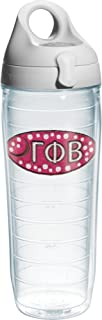 Tervis Gamma Phi Beta Sorority Water Bottle with Lid, 24 oz, Clear -