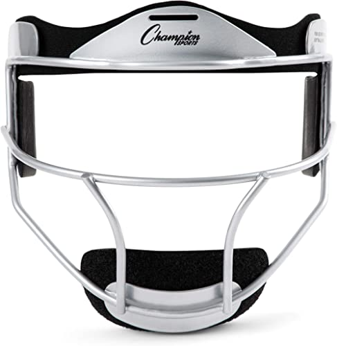 Champion Sports Softball Face Mask - Durable Baseball Fielder Head Guards - Premium Sports Accessories for Indoors an...
