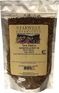 Sarsaparilla Root Cut and Sifted Mex Wildcrafted - Smilax medica, 4 Ounce