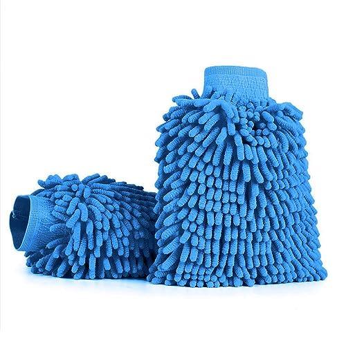 Aodoor Microfibra De Coche, 2 Unidades Chenille Limpieza del Coche Mitt Cepillo Guante, Guante