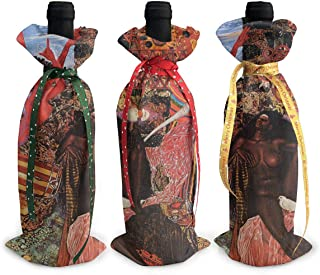 3pcs Wine Bottle Cover Christmas Santana Abraxas Album Cover Bags For Christmas Party Dinner Decoration Gift
