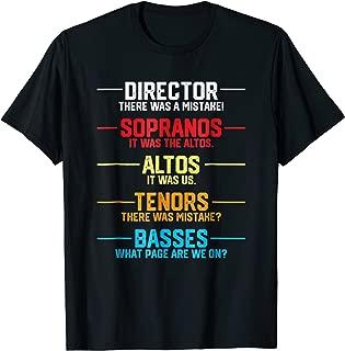 Funny Music Choir Singing Shirts Men Kids Funny Choir Joke