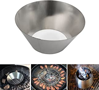 Stainless Steel Kettle Grill Accessories Fit Weber Kettle WSM Smokey Mountain and Big Green Egg Kamado Joe Grilling Whirlpool Accessories (S-10