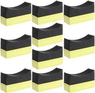 ECMQS Auto Professional Reifen Reifen Dressing Applikator Gebogene Schaum Schwamm Pad